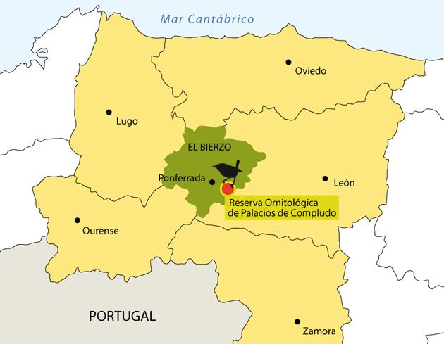 Mapa Del Bierzo Leon.Localizacion Tyto Alba